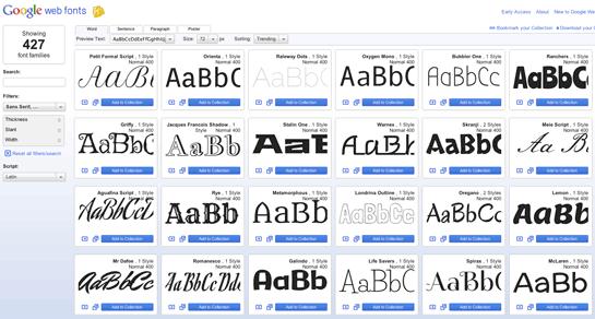 Google Web Font