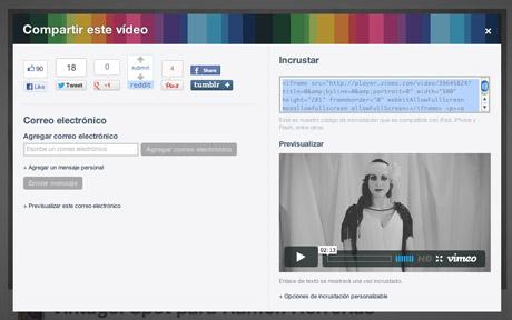 insertar vídeo de vimeo en tu página web