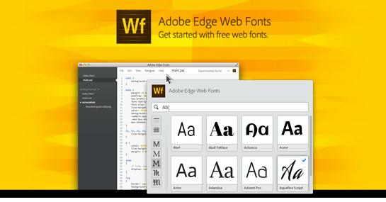 añadir adobe edge web fonts a mi página web