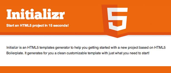 Initializr HTML5
