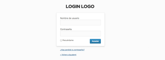 Añadir tu logotipo en pantalla de acceso a WordPress