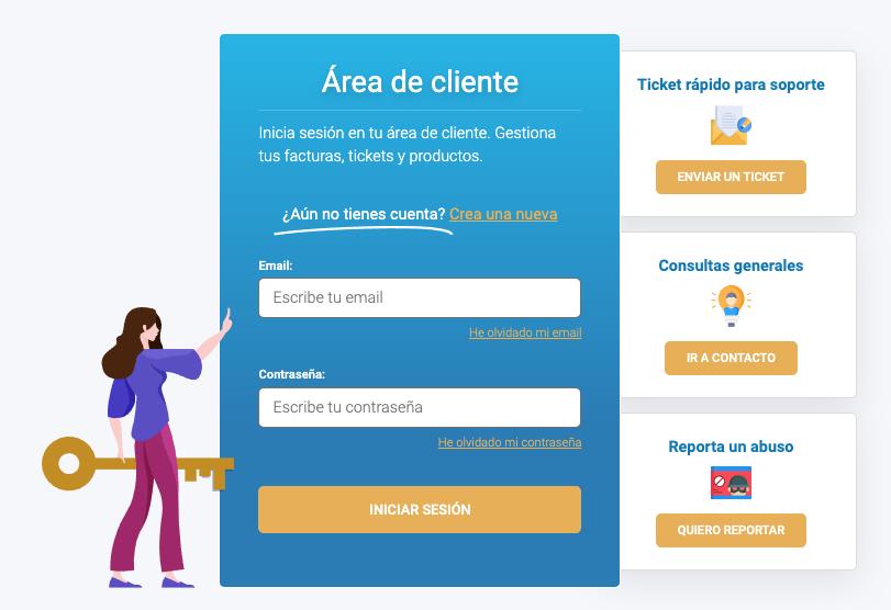 Crear una nueva cuenta con Raiola Networks