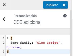 Añadir estilos CSS desde el panel de administración de WordPress