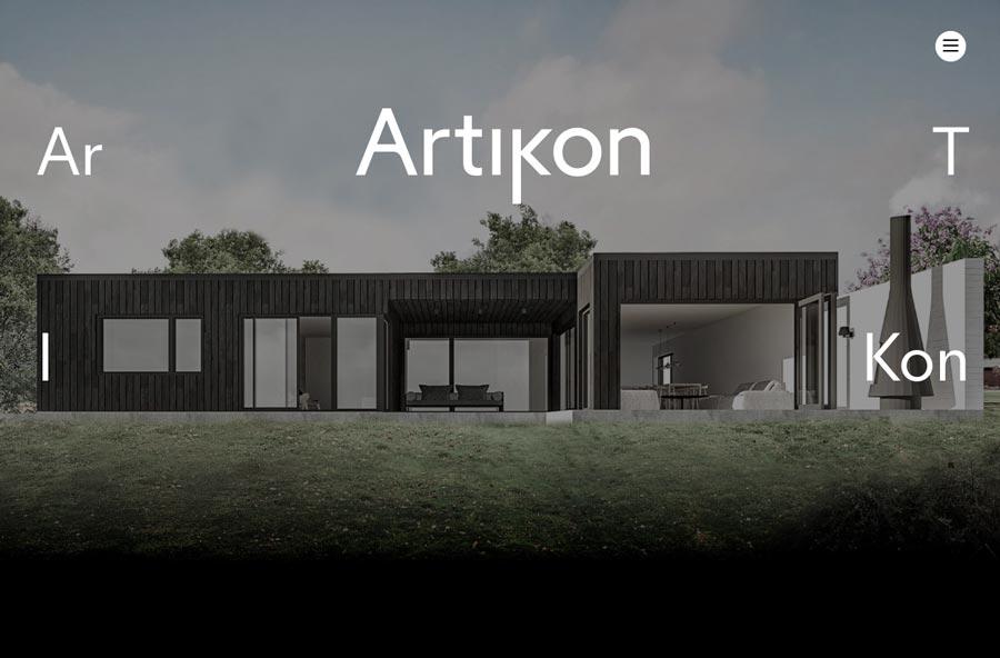 Página web corporativa de artikon.no. Estudio de arquitectura